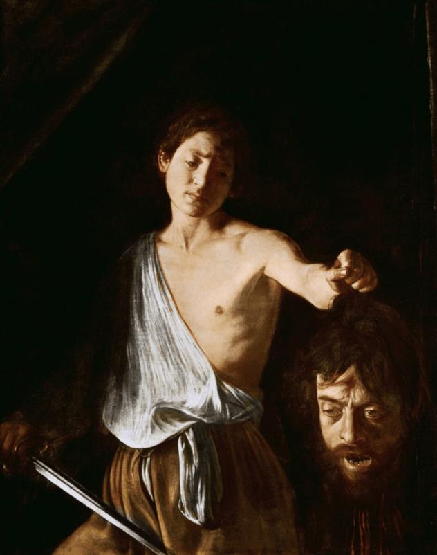David avec la tête de Goliath, Le Caravage, 1610