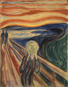 Tableau de Munch représentant la peur